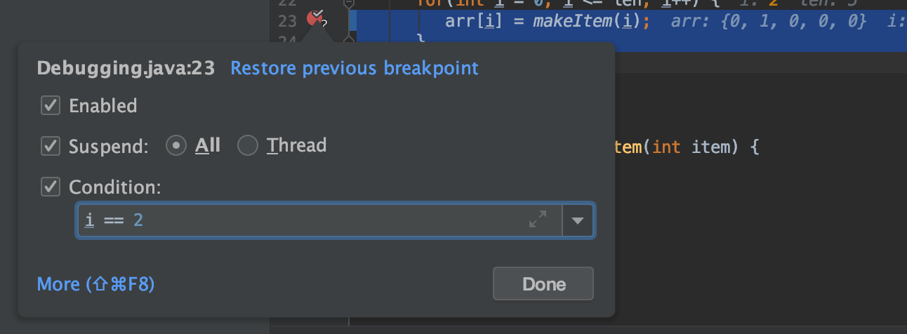 Conditional Breakpoint